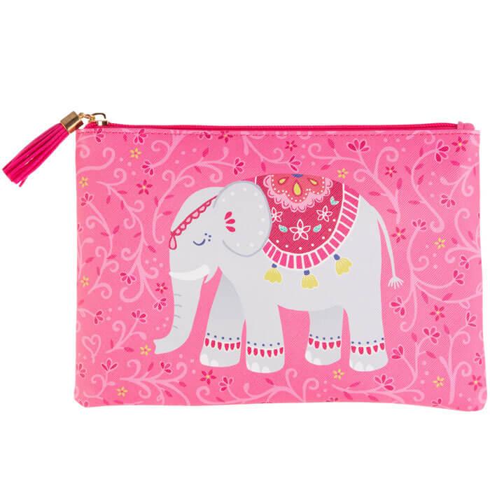 Pink Mandala Elephant Pouch