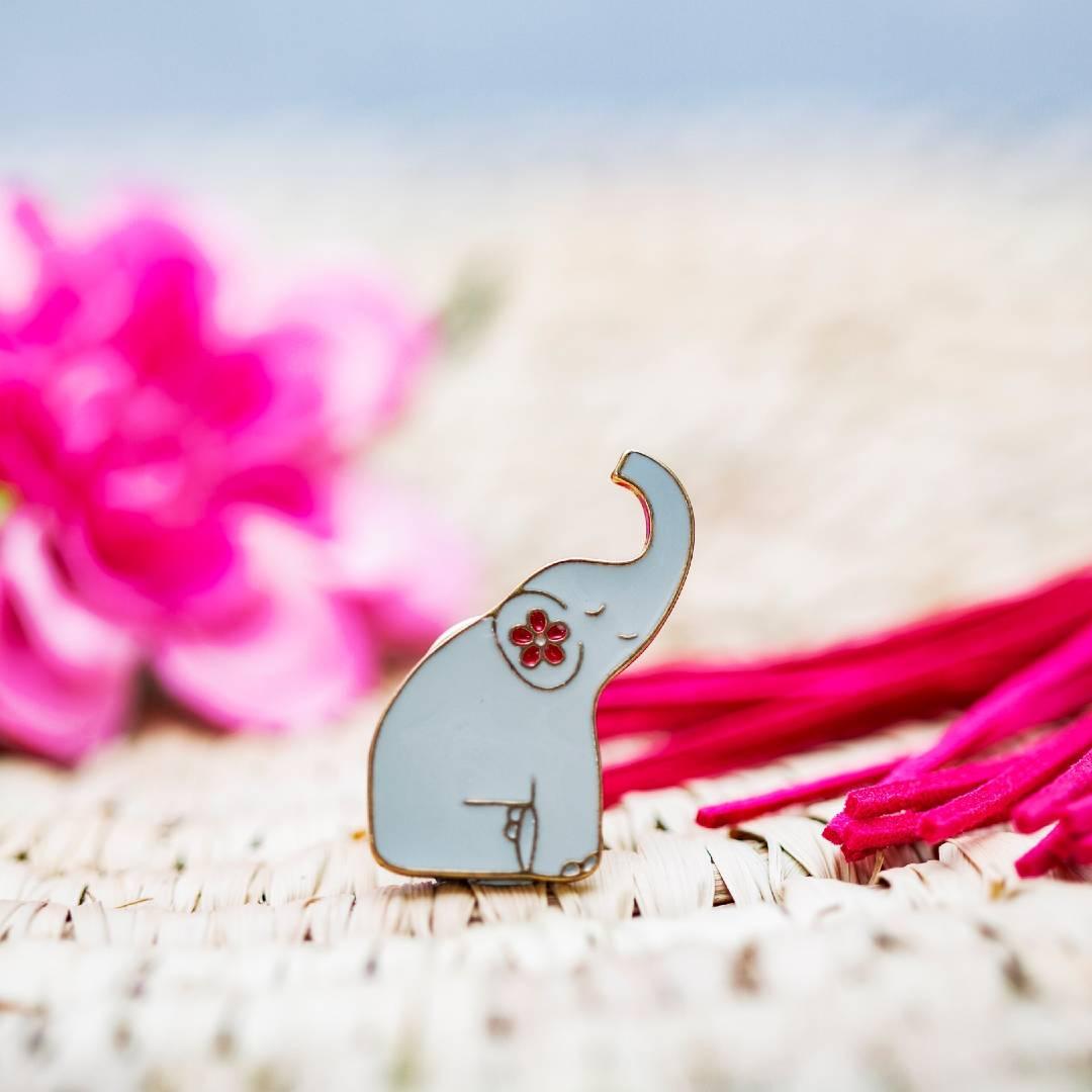 Mandala Elephant Pin