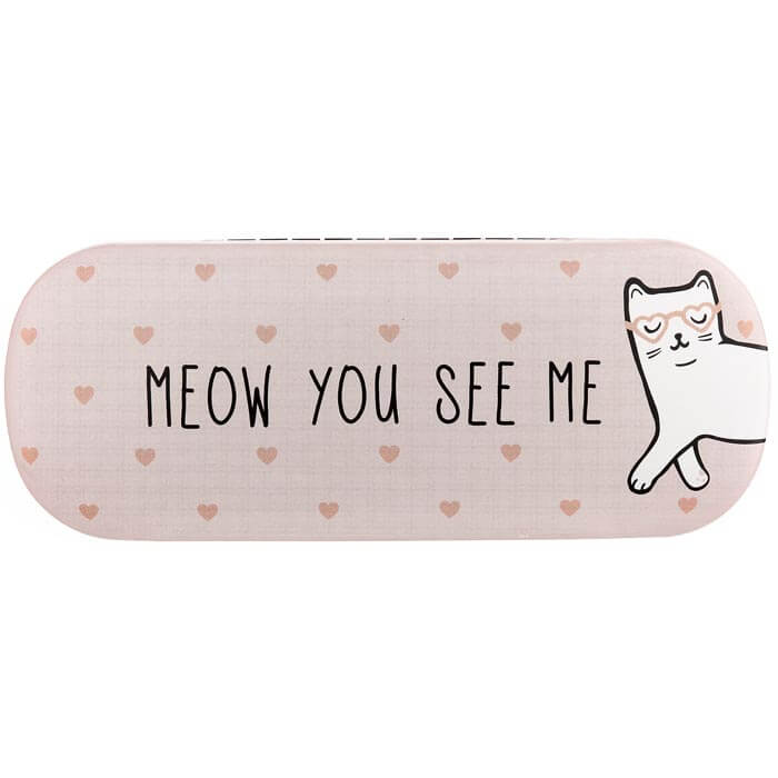 Cutie Cat Meow You See Me Glasses Case