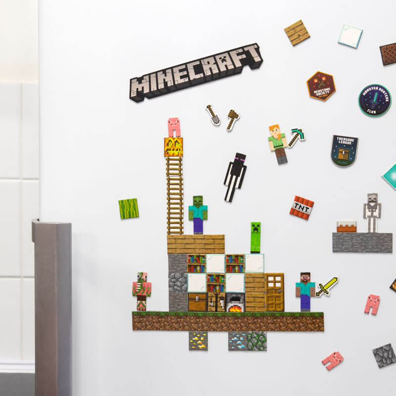 Minecraft Build a Level Magnet-Set