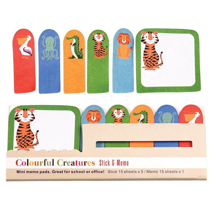 Colourful Creatures Mini Memo Pads