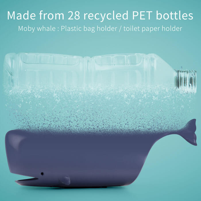 Moby Whale – Plastic Bag Holder