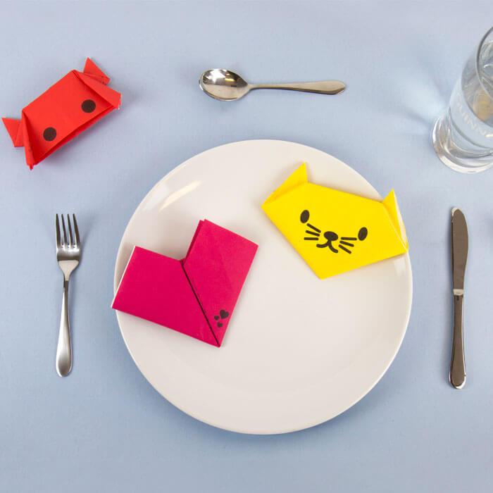 Serviettes de Table Origami