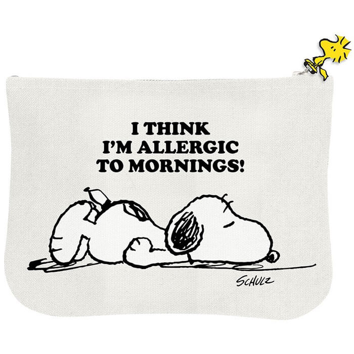 Peanuts Allergic to Mornings Pouch
