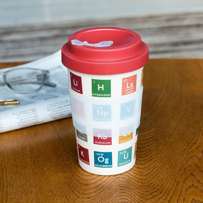 Periodic Table Bamboo Travel Mug