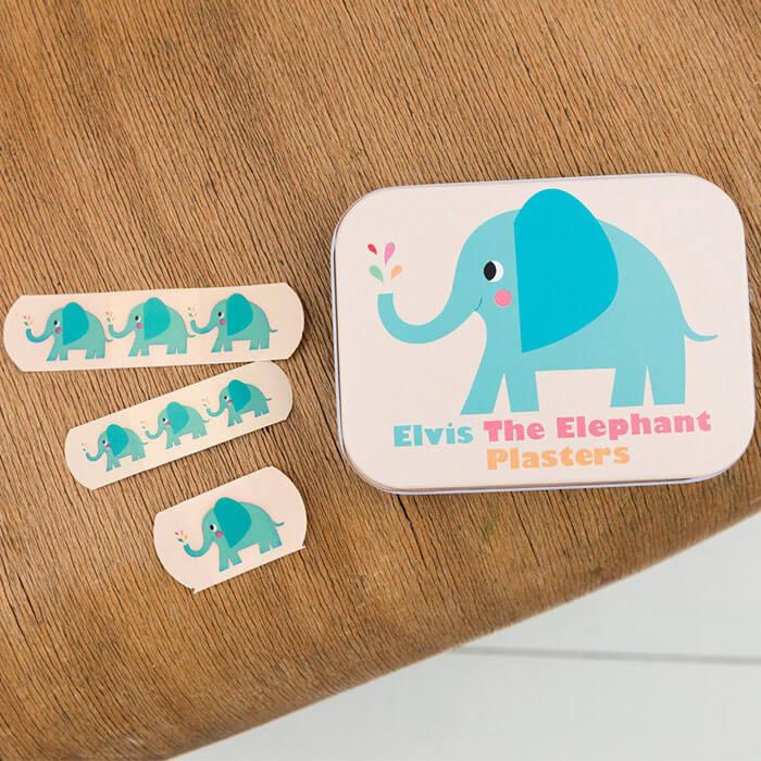 Boîte de Pansements Elvis l'Éléphant