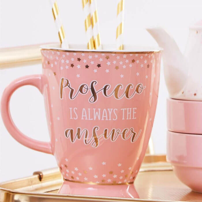 Prosecco Party Pink Mug