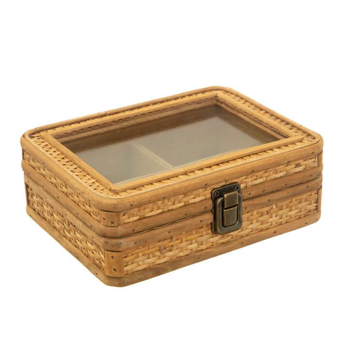 Rattan Jewellery Box
