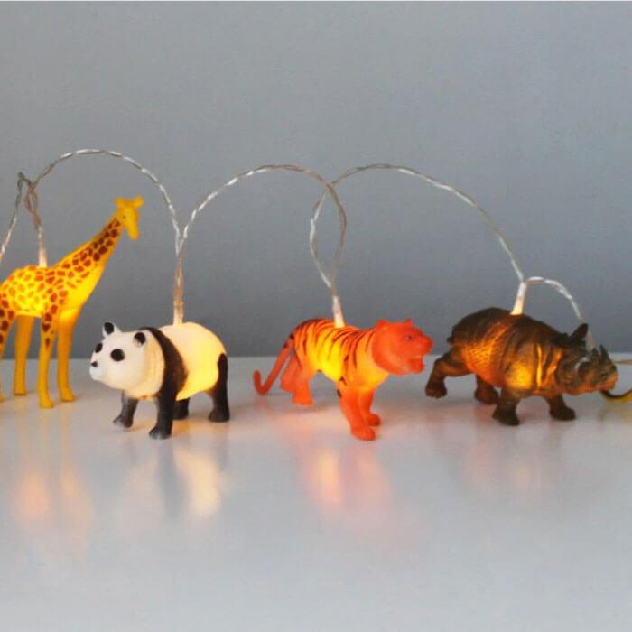 Safari Animals String Lights