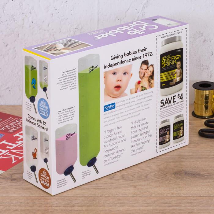 Scherz-Geschenkverpackung Laufstallflasche