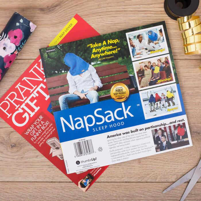 Scherz-Geschenkverpackung Nap Sack