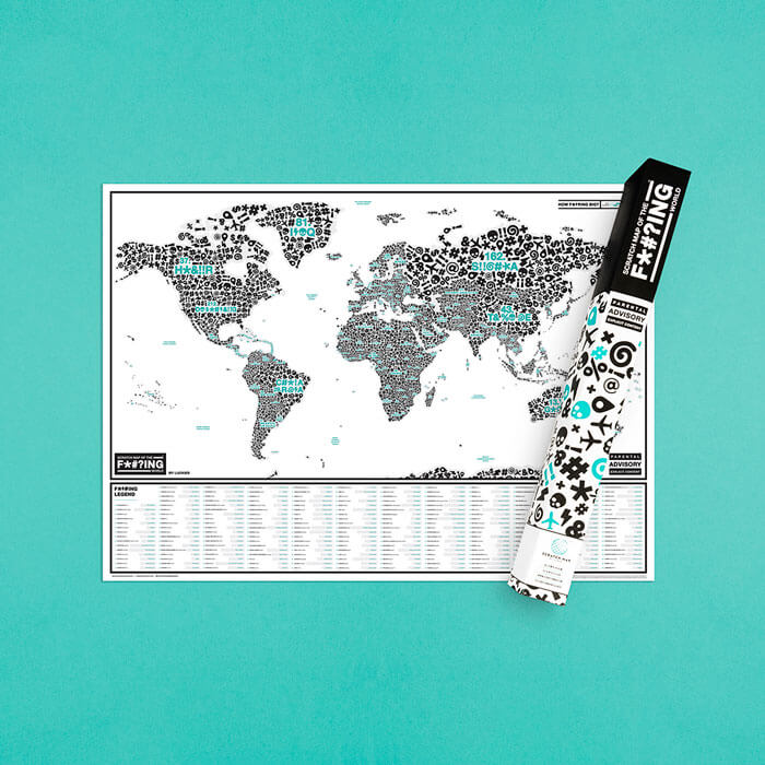Scratch Map Of The F*#?ing World