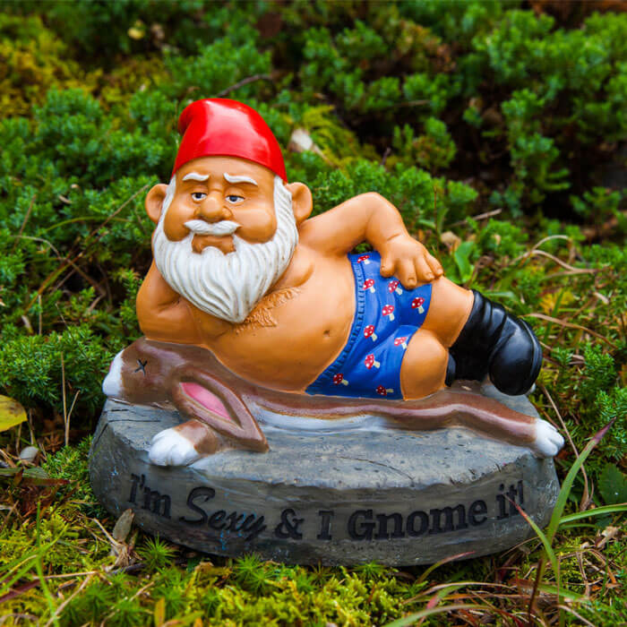The Hot Stuff Garden Gnome