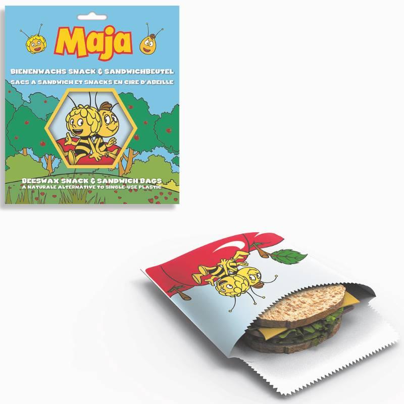 Beeswax Snack Bag Maya the Bee
