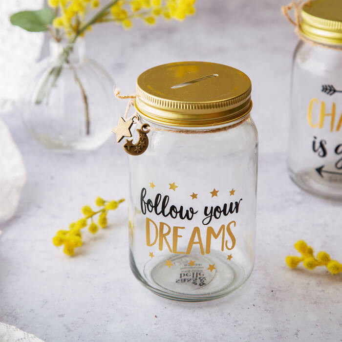 Follow Your Dreams Jar Money Box