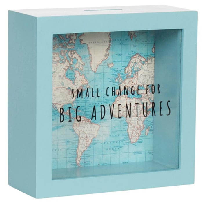 Vintage Map Big Adventures Money Box
