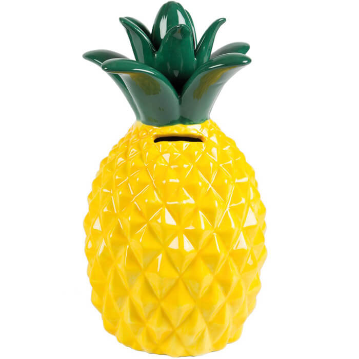 Tropical Pineapple Money Box