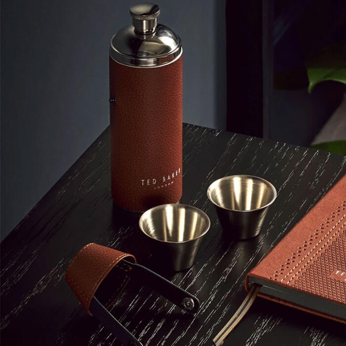 Ted Baker Hip Flask & Shot Cups