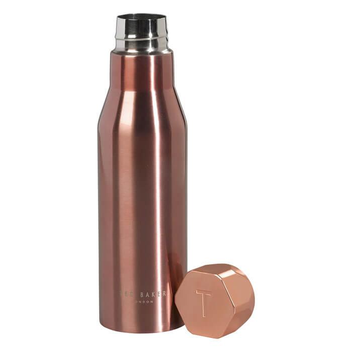 Ted Baker Rose Gold Hexagonal Lid Water Bottle