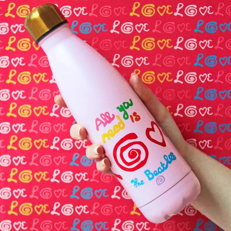 The Beatles Love Water Bottle