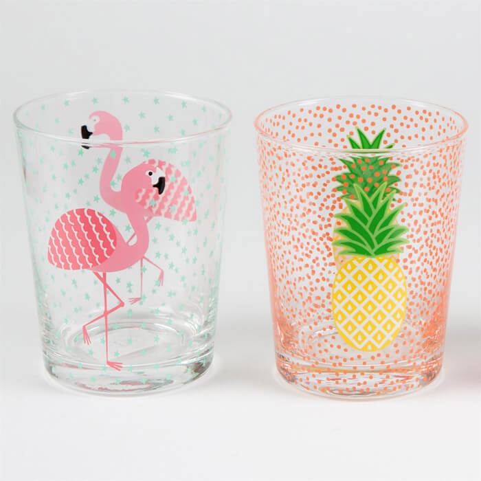 Tropical Summer Glass Tumblers