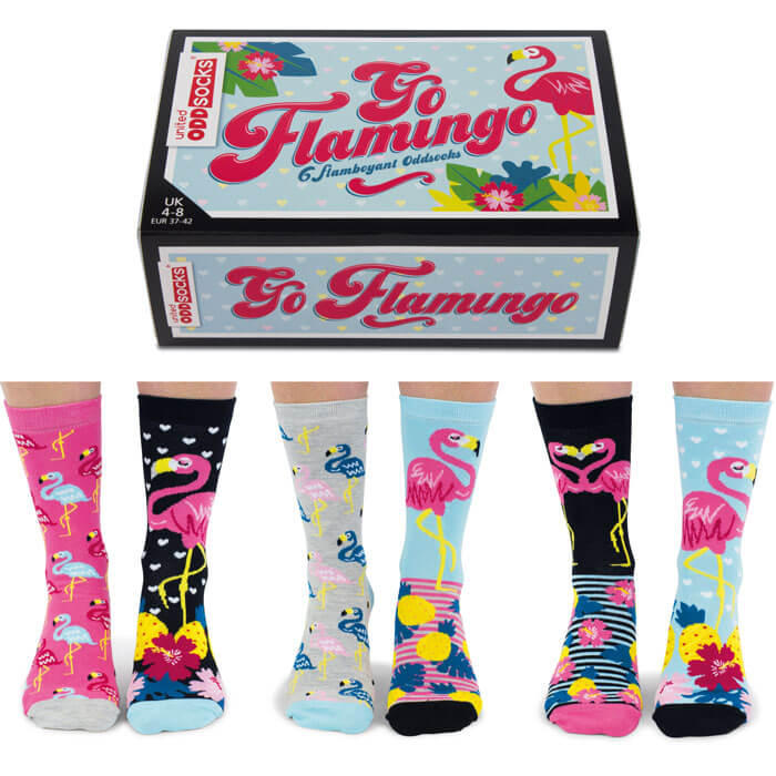 United Oddsocks Go Flamingo Socks Gift Set