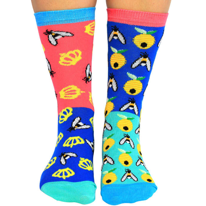 United Oddsocks Bee Yourself Socks Gift Set