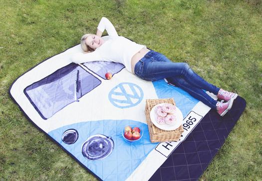 VW Bus Picknickdecke