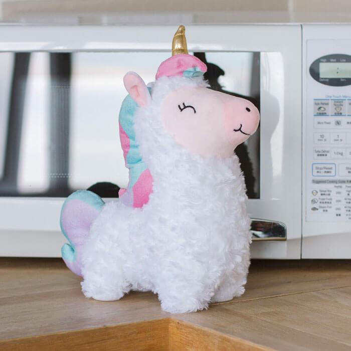 Peluche Riscaldante Lama Unicorno