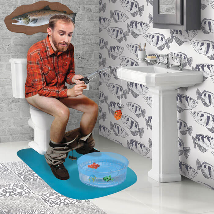 Man Toilet Fishing