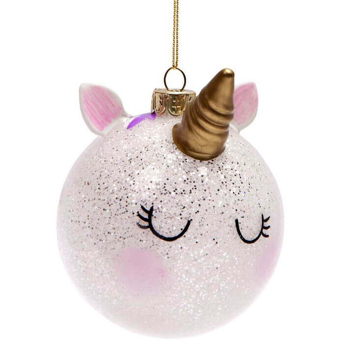 Unicorn Festive Bauble