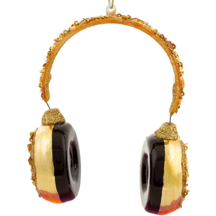 Handmade Headphone Shaped Bauble