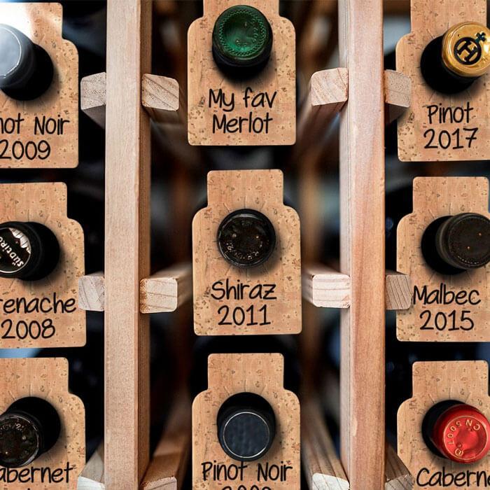 Cork Wine Tags Set of 24