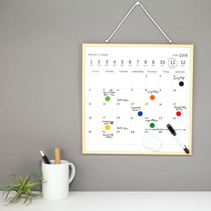 White Board Calendar