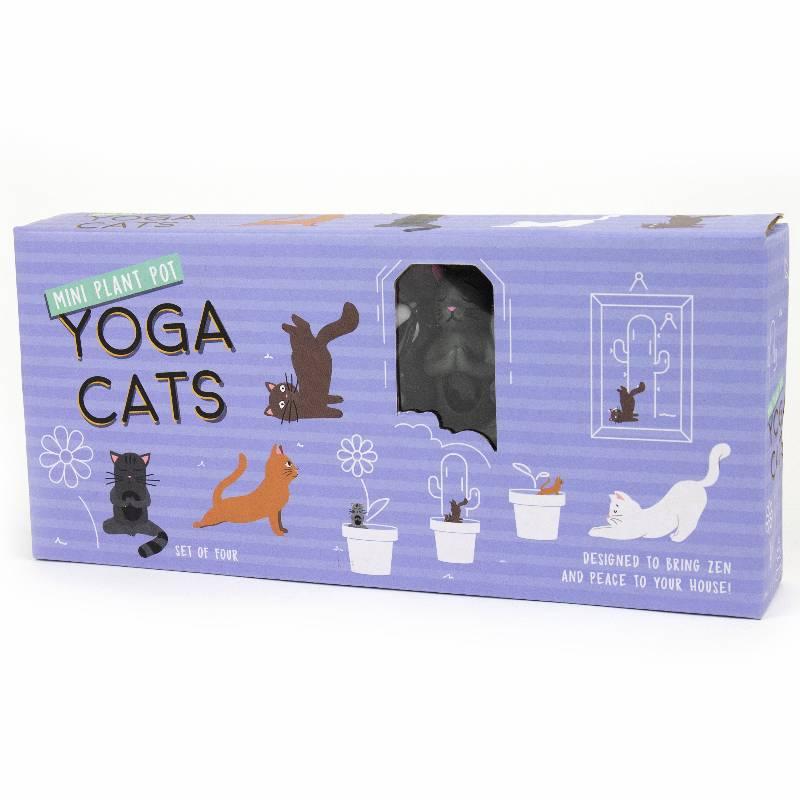 Mini Yoga Cats for Planters