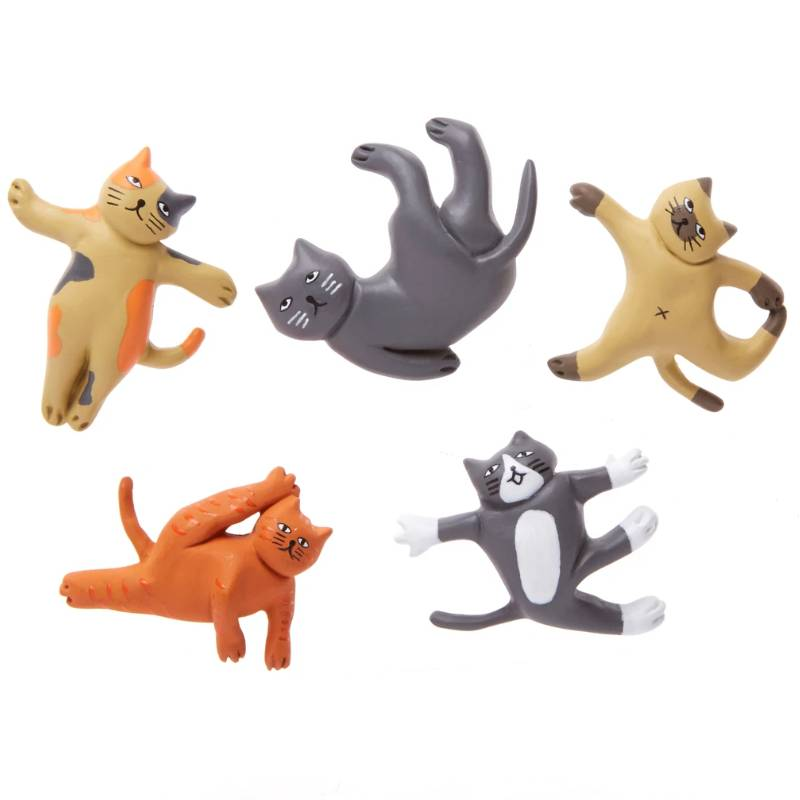 Yoga Cat Magnets