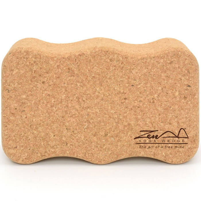 Zen Yoga Wedge Cork Block