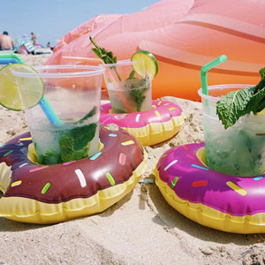 Beverage Boats Donuts