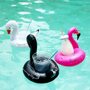Pool Party Beverage Boats Flamingo & Swans