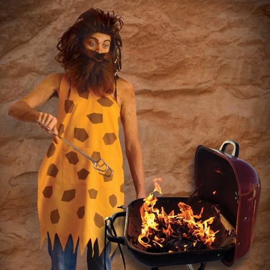 Tablier de Barbecue Homme des Cavernes