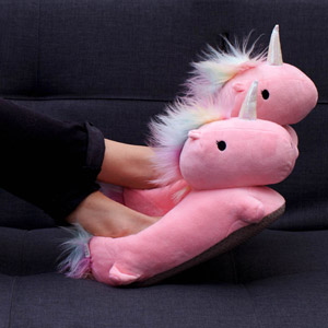 Unicorn USB Heated Slippers Pink