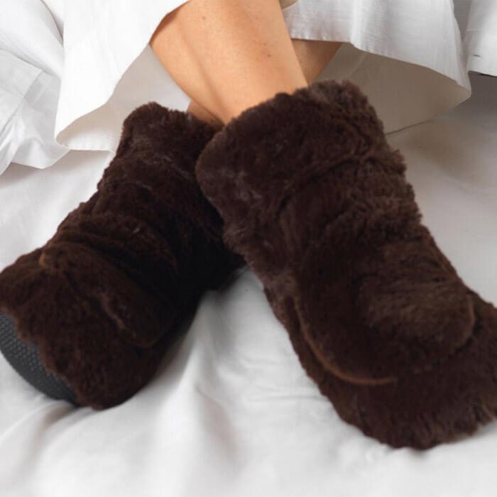 Pantofole Riscaldanti in Morbida Pelliccia