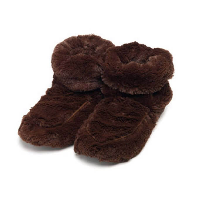 Warmies Cozy Plush Body Boots Brown