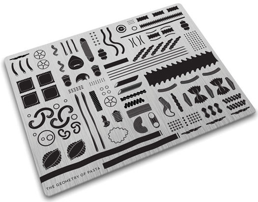 Worktop Saver Chopping Board - Geometry of Pasta