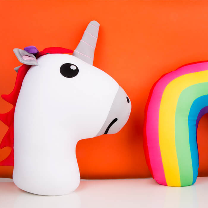 Unicorn Zip and Flip Pillow