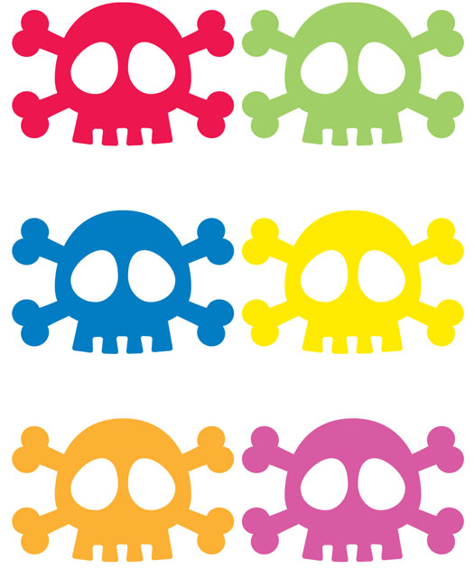 Skull Drink Markers Set of 6