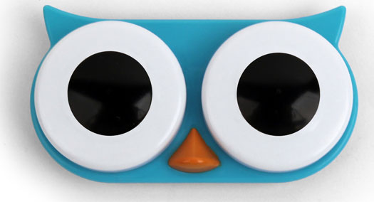 Owl Contact Lens Case