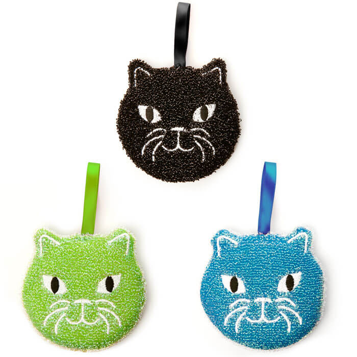 Kitty Scrub Sponge Set