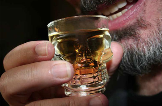 Skull Shot Glasses Set of 4