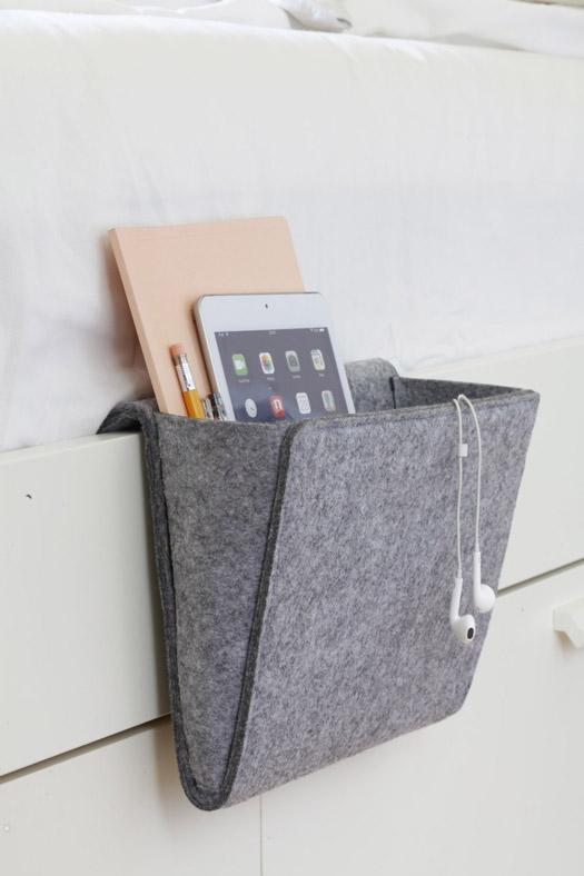 Bett-Tasche aus Filz